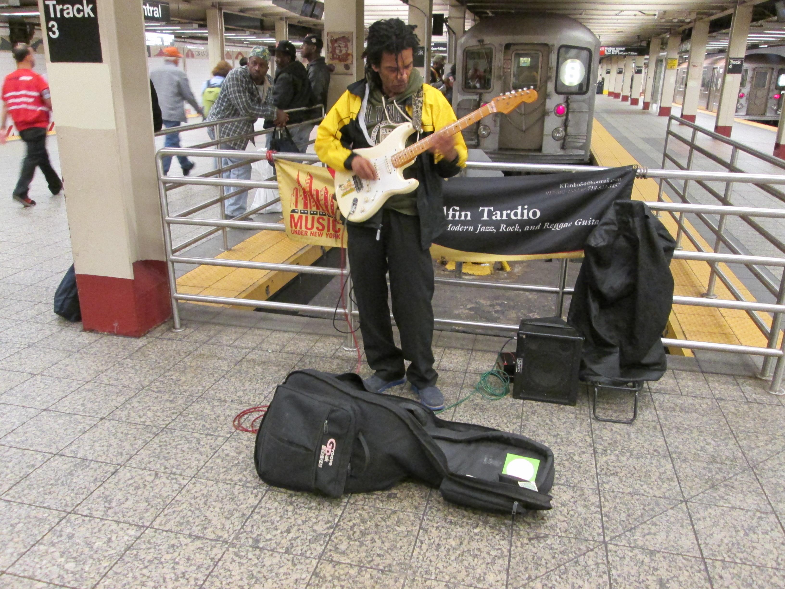 Guitarist Shogo Kubo NYC Subway 42nd  NYC Subway Music